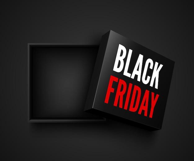 Czarny piątek sprzedaż baner z otwartym kwadratem