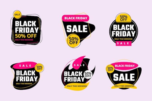Czarny piątek sprzedaż banner na banery plakaty broszury strony docelowe certyfikaty firm