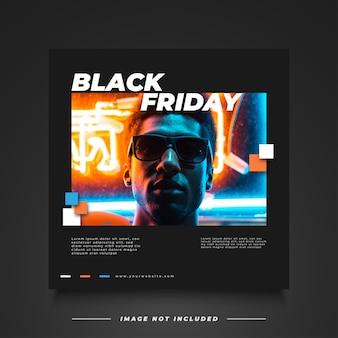 Czarny piątek sprzedaż banner z futurystyczną i kreatywną koncepcją