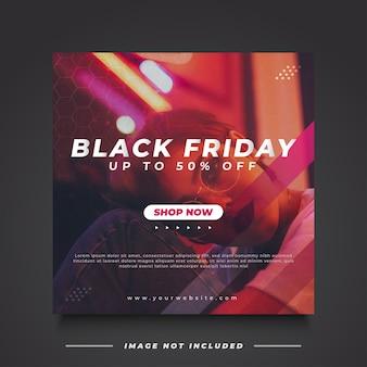 Czarny piątek sprzedaż banner z futurystyczną i minimalistyczną koncepcją