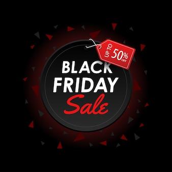 Czarny Piątek Sprzedaż Banner Premium Wektorów