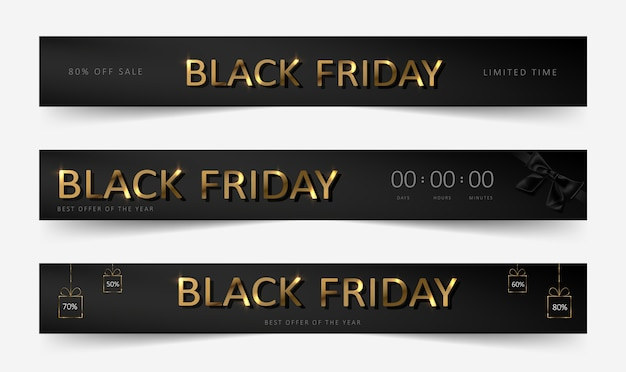 Czarny piątek sprzedaż banner
