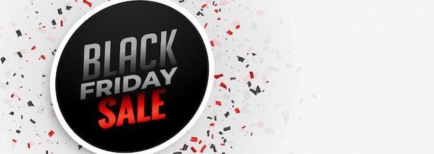 Czarny piątek sprzedaż biały sztandar szablon