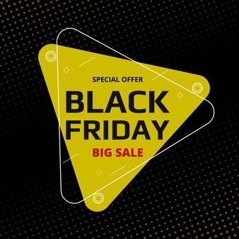 Czarny piątek sprzedaż ciemne tło. komercyjny baner kreskówka z efektem półtonów.