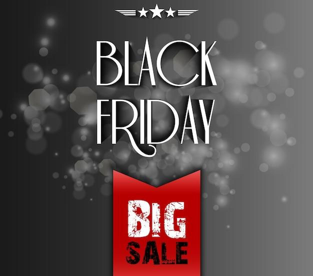 Czarny piątek sprzedaż duży szablon
