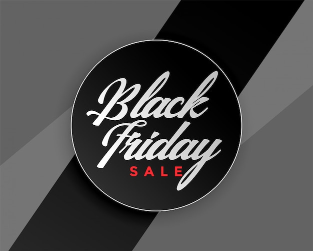 Czarny piątek sprzedaż elegancki projekt banera