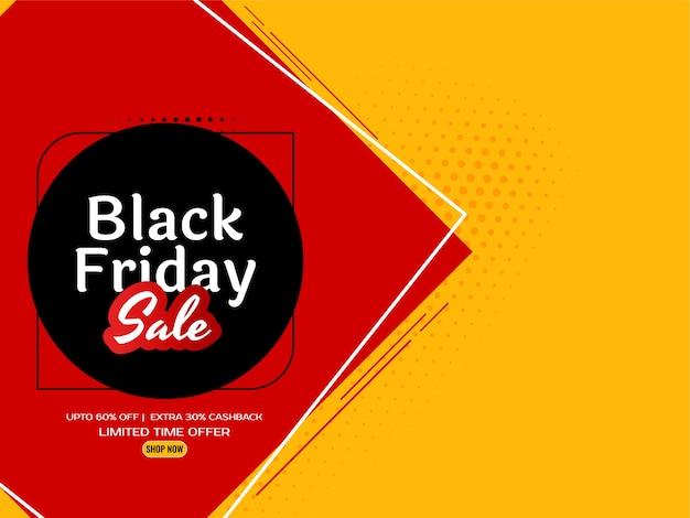 Czarny piątek sprzedaż jasny żółty elegancki tło wektor