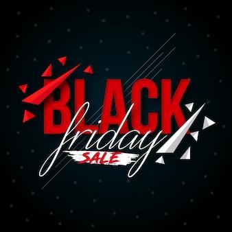 Czarny piątek sprzedaż kreatywnych geometryczne tło