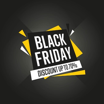 Czarny piątek sprzedaż naklejki wektor na białym tle