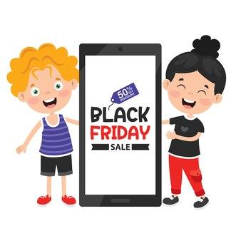 Czarny piątek sprzedaż napis szablon projektu