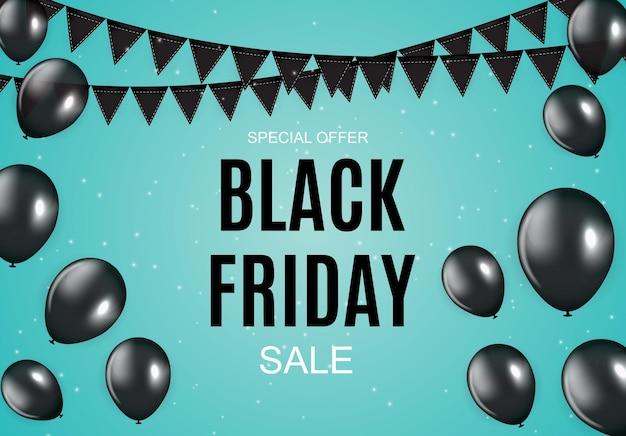 Czarny piątek sprzedaż napis transparent szablon projektu. ilustracja wektorowa eps10