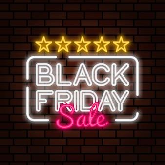 Czarny piątek sprzedaż neon znak