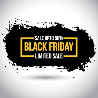 Czarny piątek sprzedaż. nowa prosta typografia w żółtym kolorze na białym tle. 50% zniżki