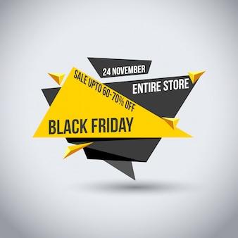Czarny piątek sprzedaż. nowa twórcza typografia na białym tle