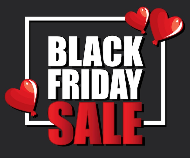 Czarny piątek sprzedaż nowoczesny szablon projektu transparent na czerwonym i czarnym tle