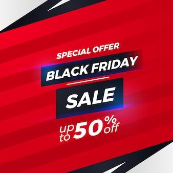 Czarny piątek sprzedaż oferta promocyjna zniżka plakat baner prosty elegancki szablon