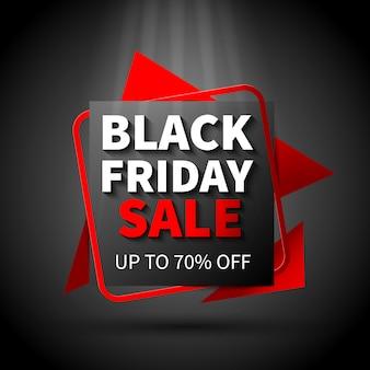 Czarny piątek sprzedaż płaska konstrukcja szablon transparent