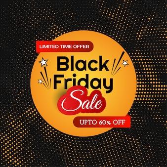 Czarny piątek sprzedaż półtonów tło projektu