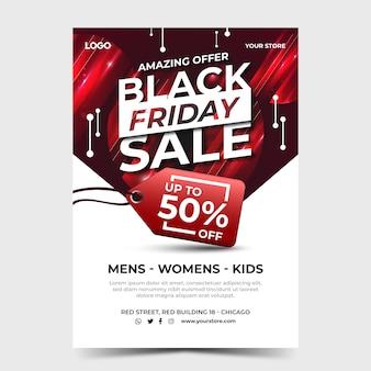 Czarny piątek sprzedaż streszczenie szablon