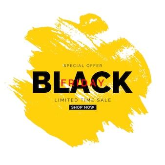 Czarny piątek sprzedaż szablon transparent. ilustracja wektorowa
