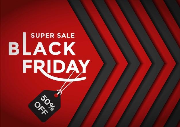Czarny piątek sprzedaż szablon transparent