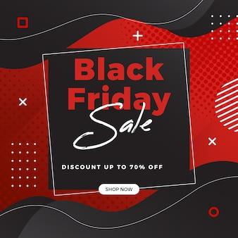 Czarny piątek sprzedaż szablon