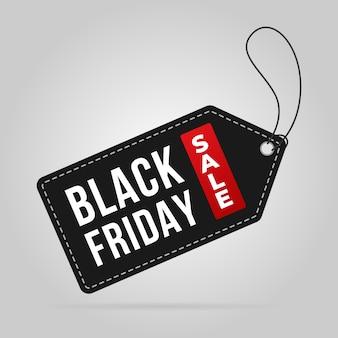 Czarny piątek sprzedaż tag cena sprzedaży transparent