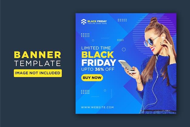 Czarny piątek sprzedaż tag foka szablon transparent