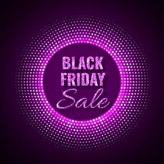Czarny piątek sprzedaż technologia tło w stylu neonowym