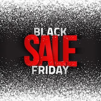 Czarny piątek sprzedaż tekst typograficzny streszczenie tło