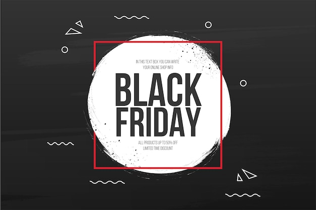 Czarny piątek sprzedaż tło z banerem powitalnym