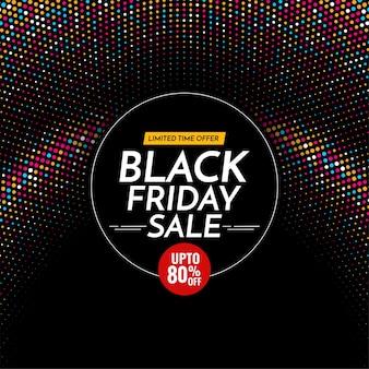 Czarny piątek sprzedaż tło z kolorowymi półtonami