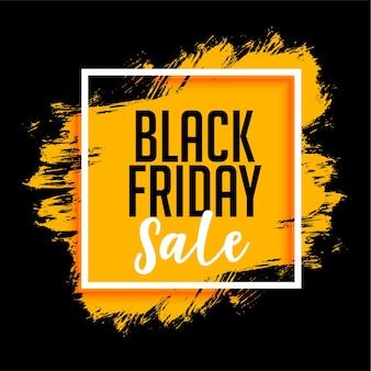 Czarny piątek sprzedaż tło z rozpryski farby