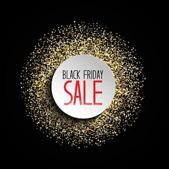 Czarny piątek sprzedaż tło z wzorem złotym brokatem