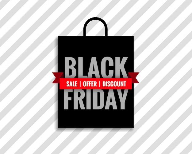 Czarny piątek sprzedaż torba tło