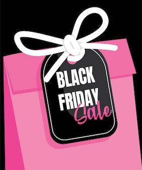 Czarny piątek sprzedaż torby na zakupy miejsce na tekst.