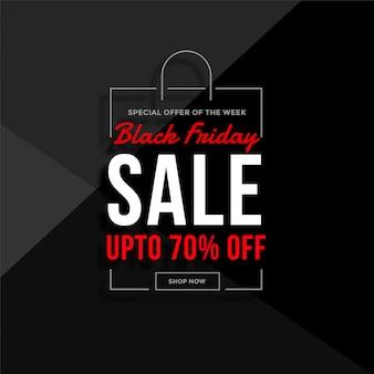 Czarny piątek sprzedaż torby na zakupy