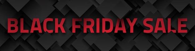 Czarny piątek sprzedaż transparent 3d