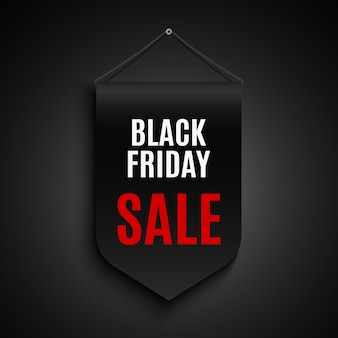Czarny piątek sprzedaż transparent. etykietka. faborek.