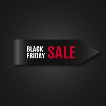 Czarny piątek sprzedaż transparent. etykietka. .