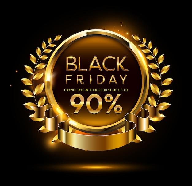 Czarny piątek sprzedaż transparent. ilustracja.