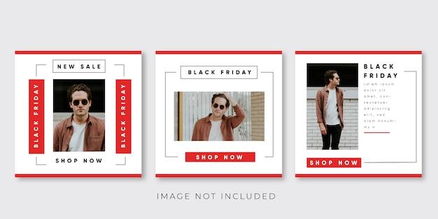 Czarny piątek sprzedaż transparent na post w mediach społecznościowych