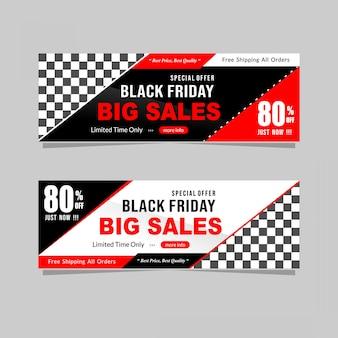 Czarny piątek sprzedaż transparent z rabatem