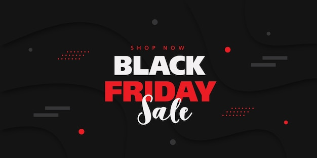 Czarny piątek sprzedaż transparent z tłem w stylu 3d.