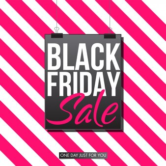 Czarny piątek sprzedaż transparent