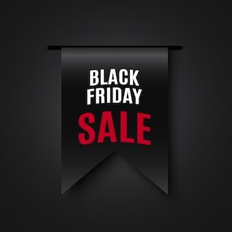Czarny piątek sprzedaż transparent. .