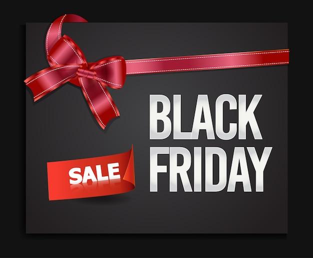 Czarny piątek sprzedaż transparent.