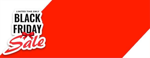 Czarny piątek sprzedaż w ograniczonym czasie banner z miejscem na tekst