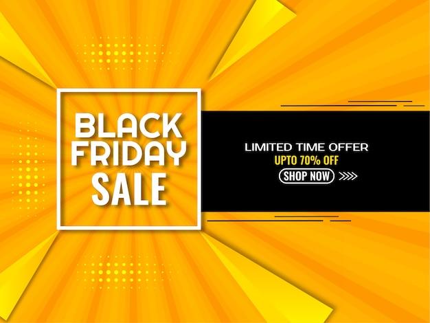 Czarny piątek sprzedaż żółte i czarne tło