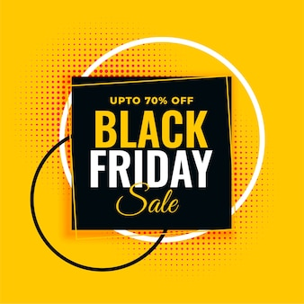 Czarny piątek sprzedaż żółty szablon transparent